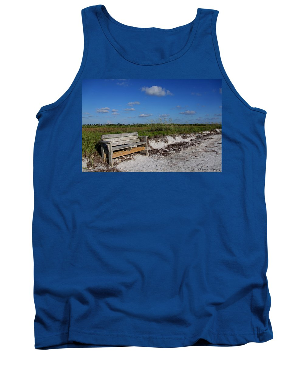 Landscape Tank Top featuring the photograph Empty Bench by Barbara Bowen