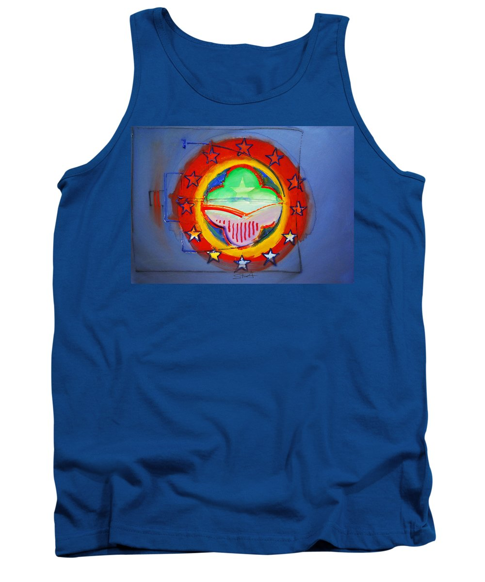 Symbol Tank Top featuring the painting EMU by Charles Stuart