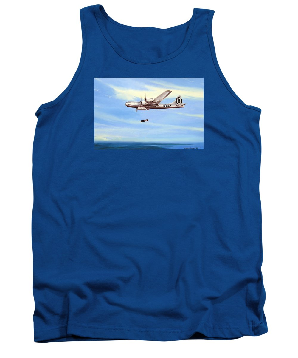 Military Tank Top featuring the painting Enola Gay by Marc Stewart