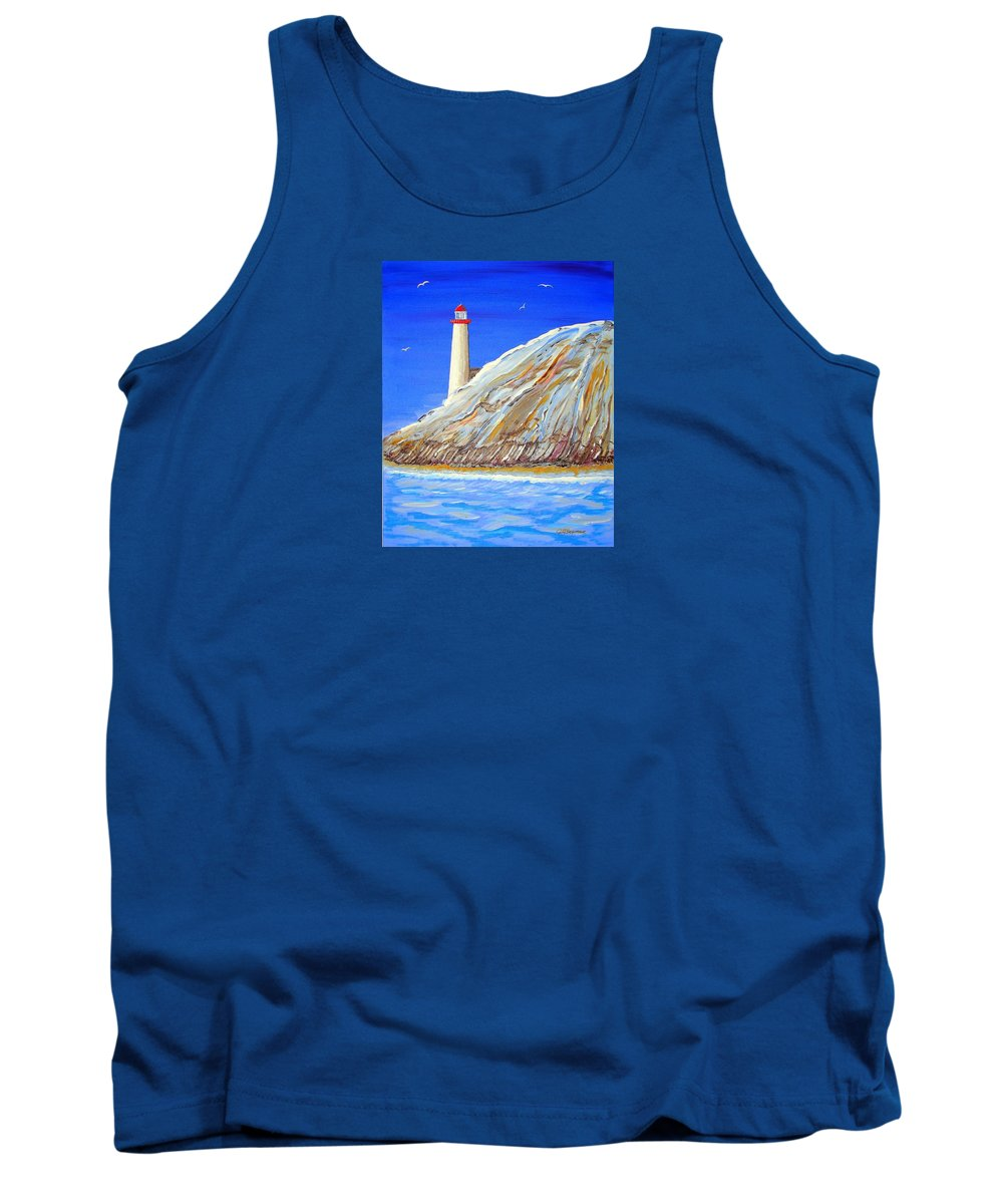 Impressionist Painting Tank Top featuring the painting Entering The Harbor by J R Seymour