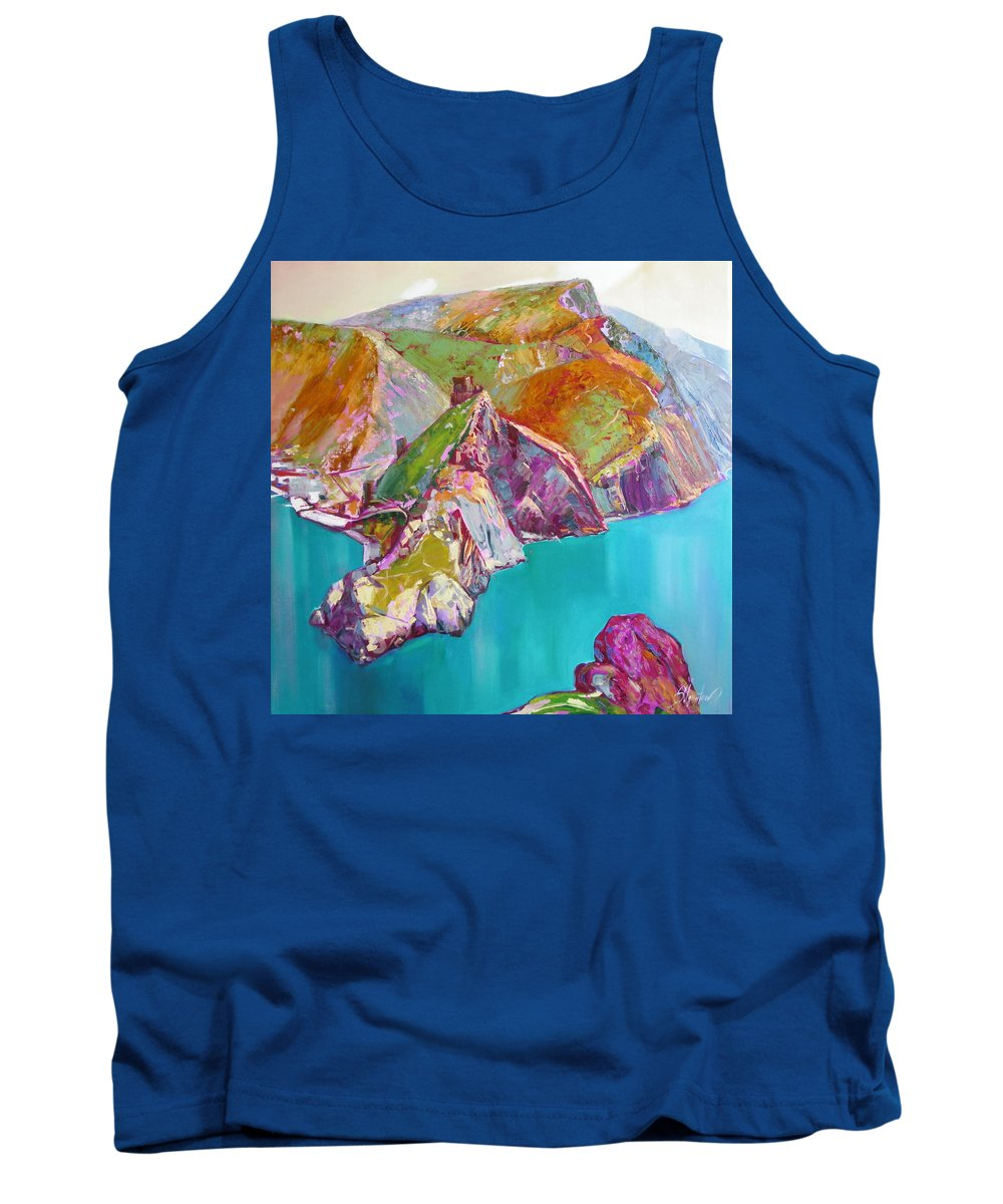 Ignatenko Tank Top featuring the painting Entry To Balaklaw by Sergey Ignatenko