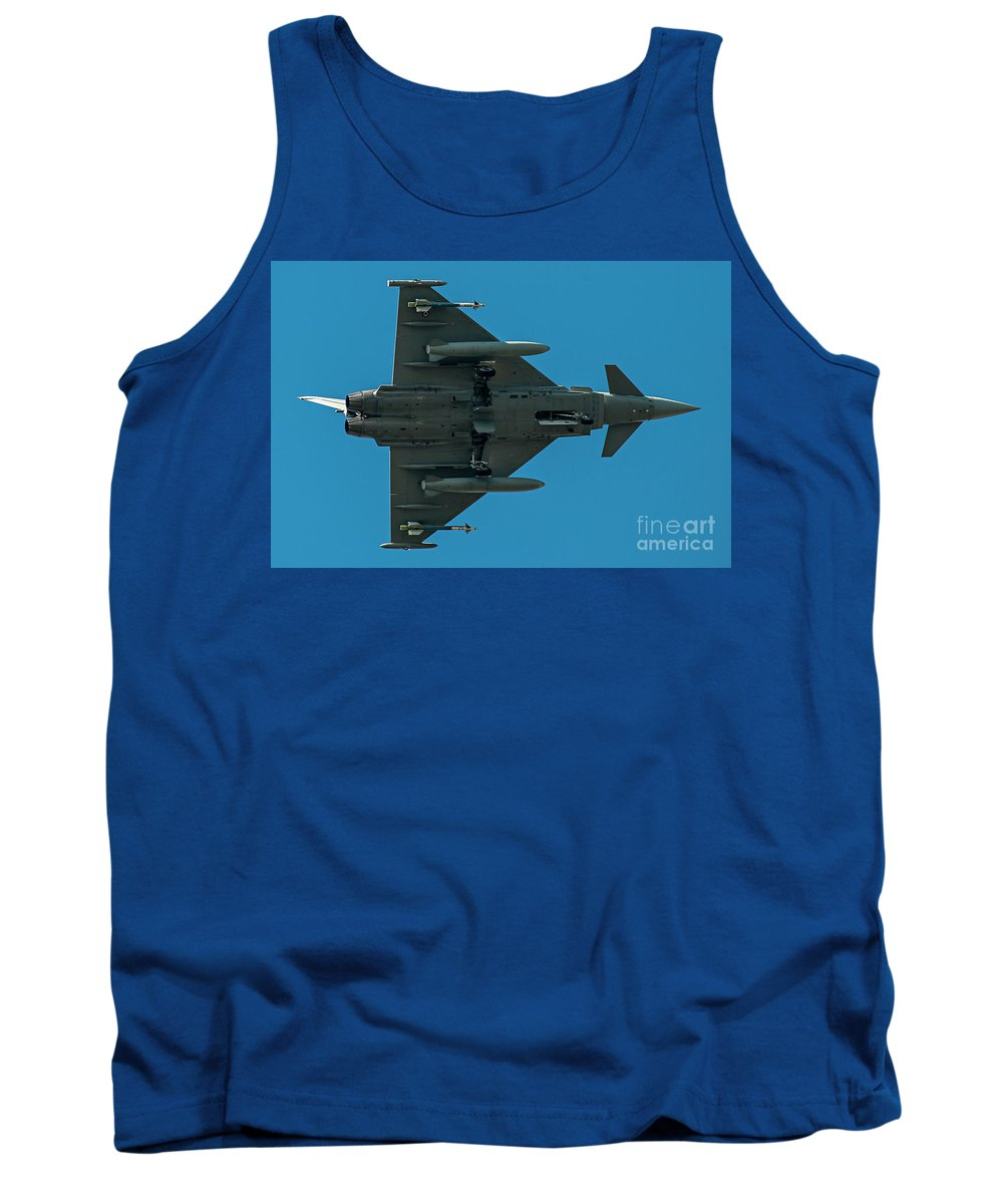 Force Tank Top featuring the photograph Eurofighter Typhoon 2000 Profile by Roberto Chiartano