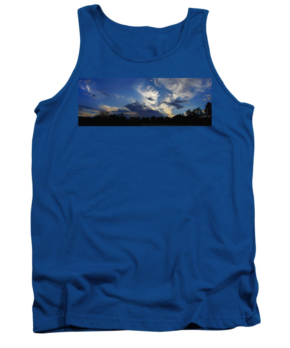 Landscape Tank Top featuring the photograph Evening At The Nature Center by Steve Karol