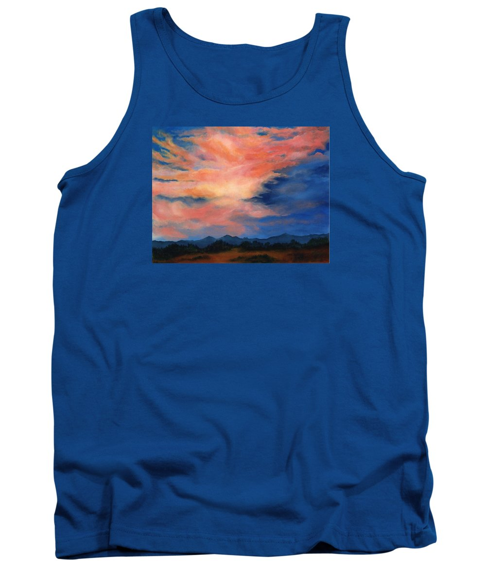 Twilight Tank Top featuring the painting Evening Sky by Melissa Joyfully