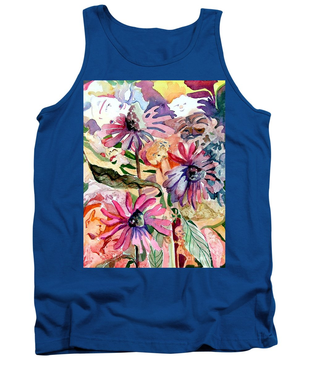 Daisy Tank Top featuring the painting Fairy Land by Mindy Newman