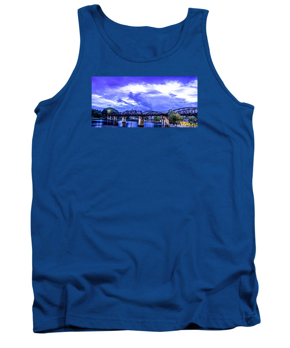 River Kwaii Tank Top featuring the photograph Famous Bridge by Thomas Levine