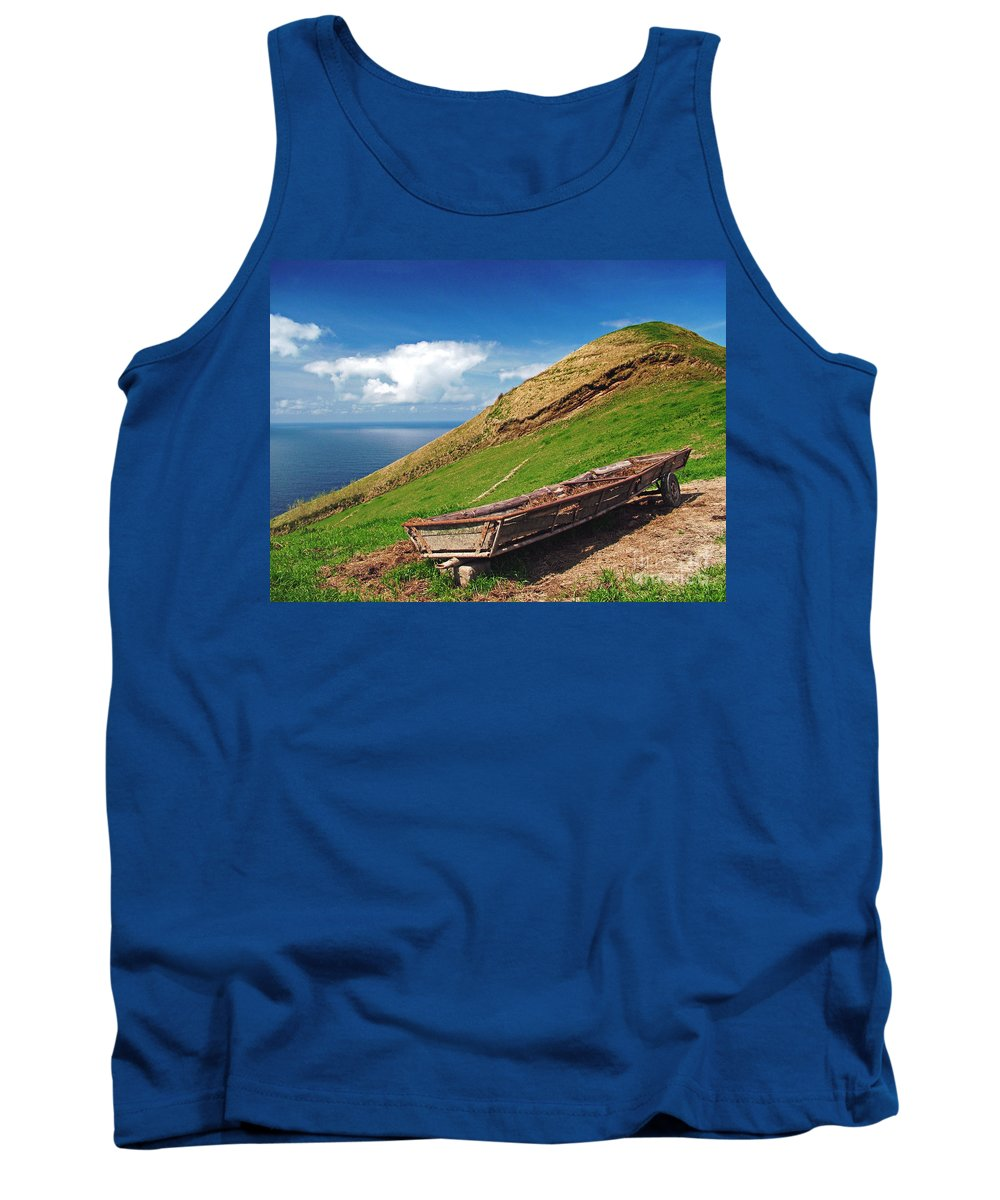 Europe Tank Top featuring the photograph Farming In Azores Islands by Gaspar Avila