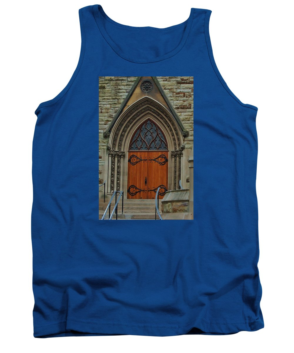 Pittsburgh Tank Top featuring the photograph First Presbyterian Church Door by Christopher James