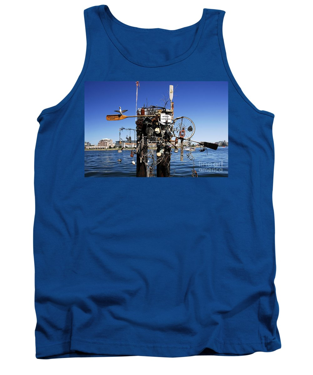 Fisherman Tank Top featuring the photograph Fisherman's Wharf by David Lee Thompson