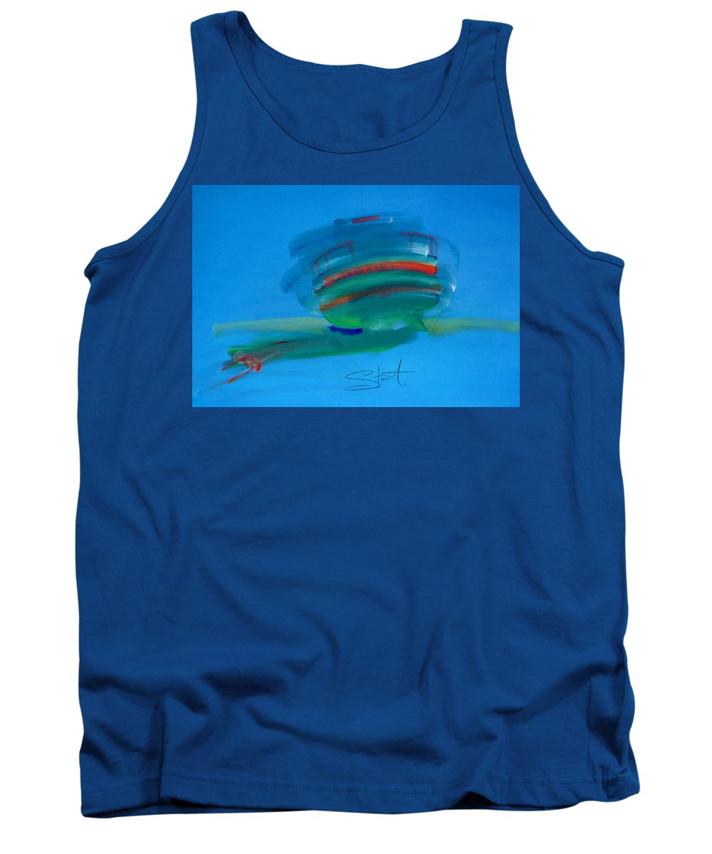 Fishing Boat Tank Top featuring the painting Fishing Boat Hastings by Charles Stuart