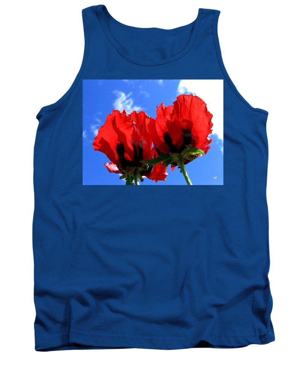 Blue Tank Top featuring the photograph Flaming Skies by Will Borden