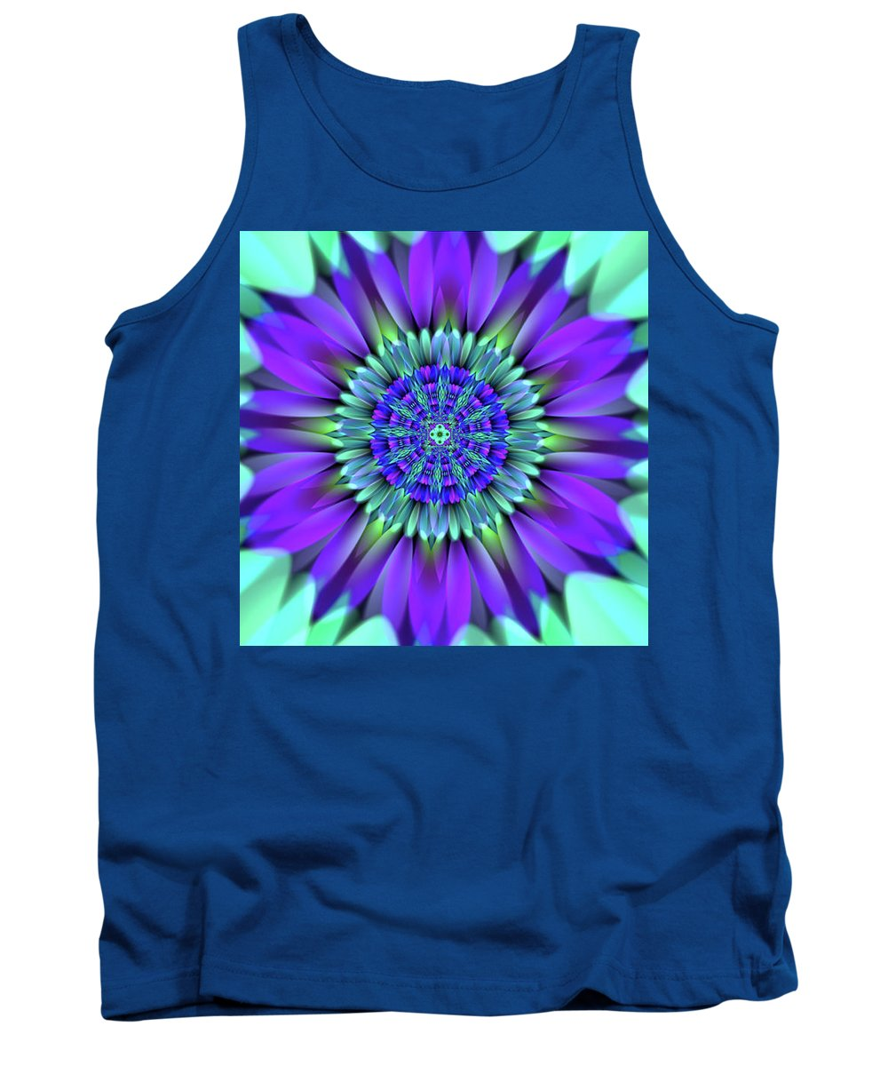 Flower Tank Top featuring the digital art Flower Translucent 19 by Emily Colosimo