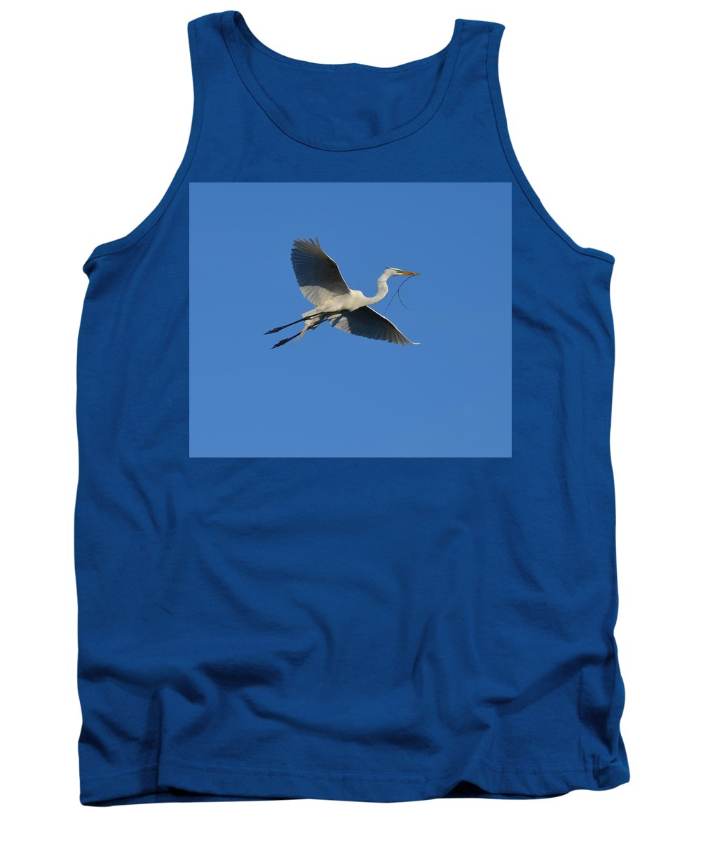 Bird Tank Top featuring the photograph Flying Egret by Richard Bryce and Family