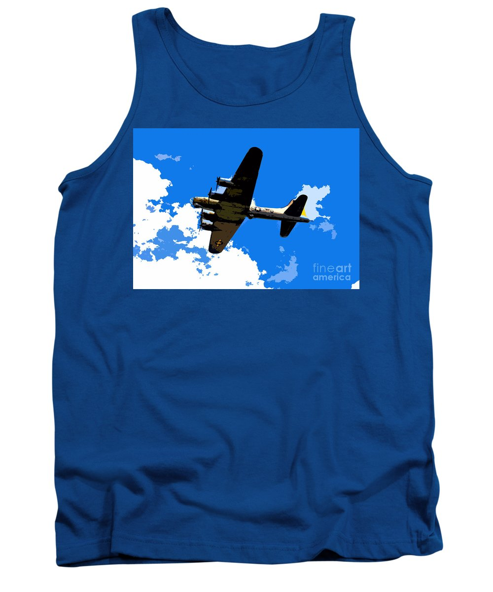 Flying Fortress Tank Top featuring the photograph Flying Fortress by David Lee Thompson