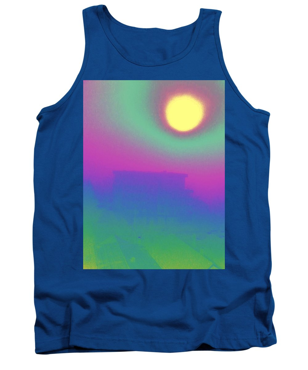 Abstract Tank Top featuring the digital art Foggy Day by Tim Allen
