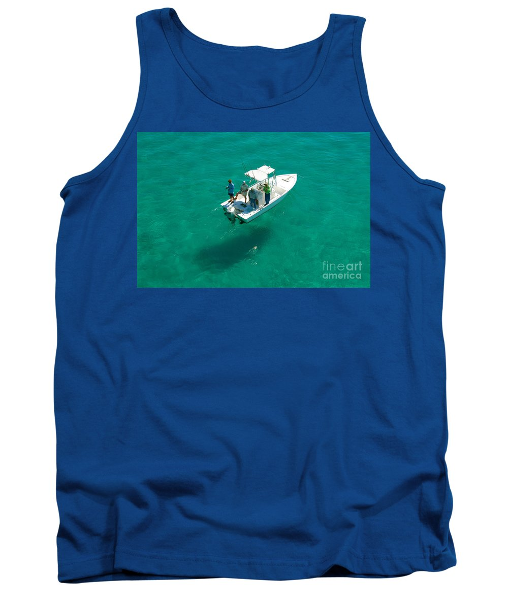 Fishing Tank Top featuring the photograph Four Fishermen by David Lee Thompson