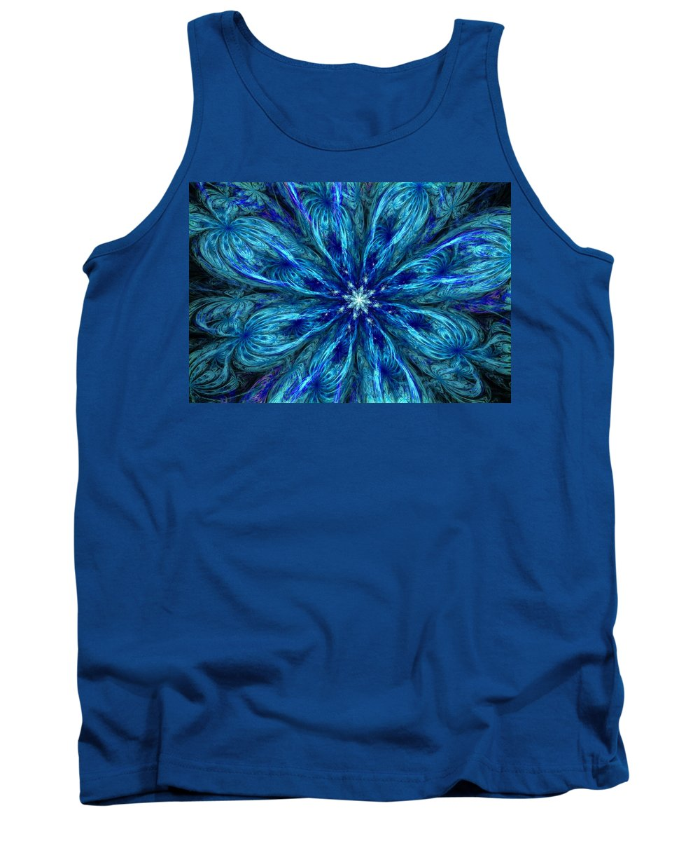 Abstract Tank Top featuring the digital art Fractal Flora 062610 by David Lane