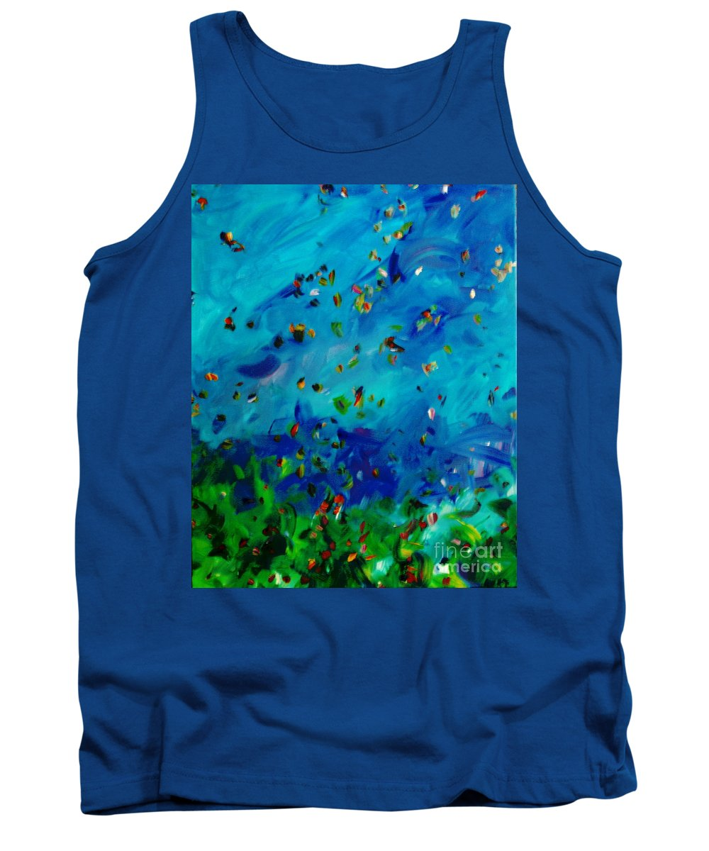 Landscape Tank Top featuring the painting Freelancing by Reina Resto