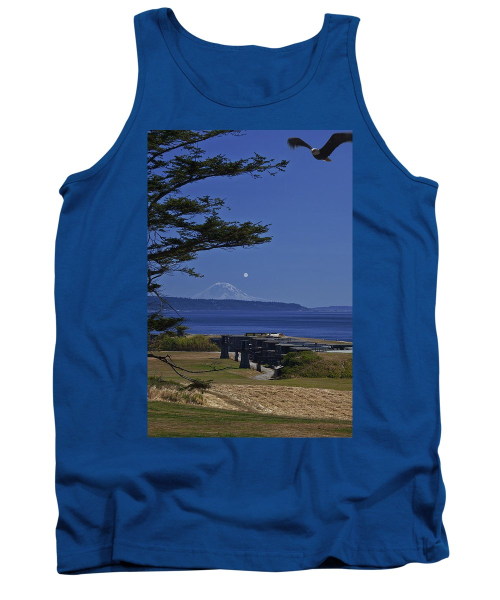 Moon Tank Top featuring the photograph Full Moon Rising by Karen Ulvestad