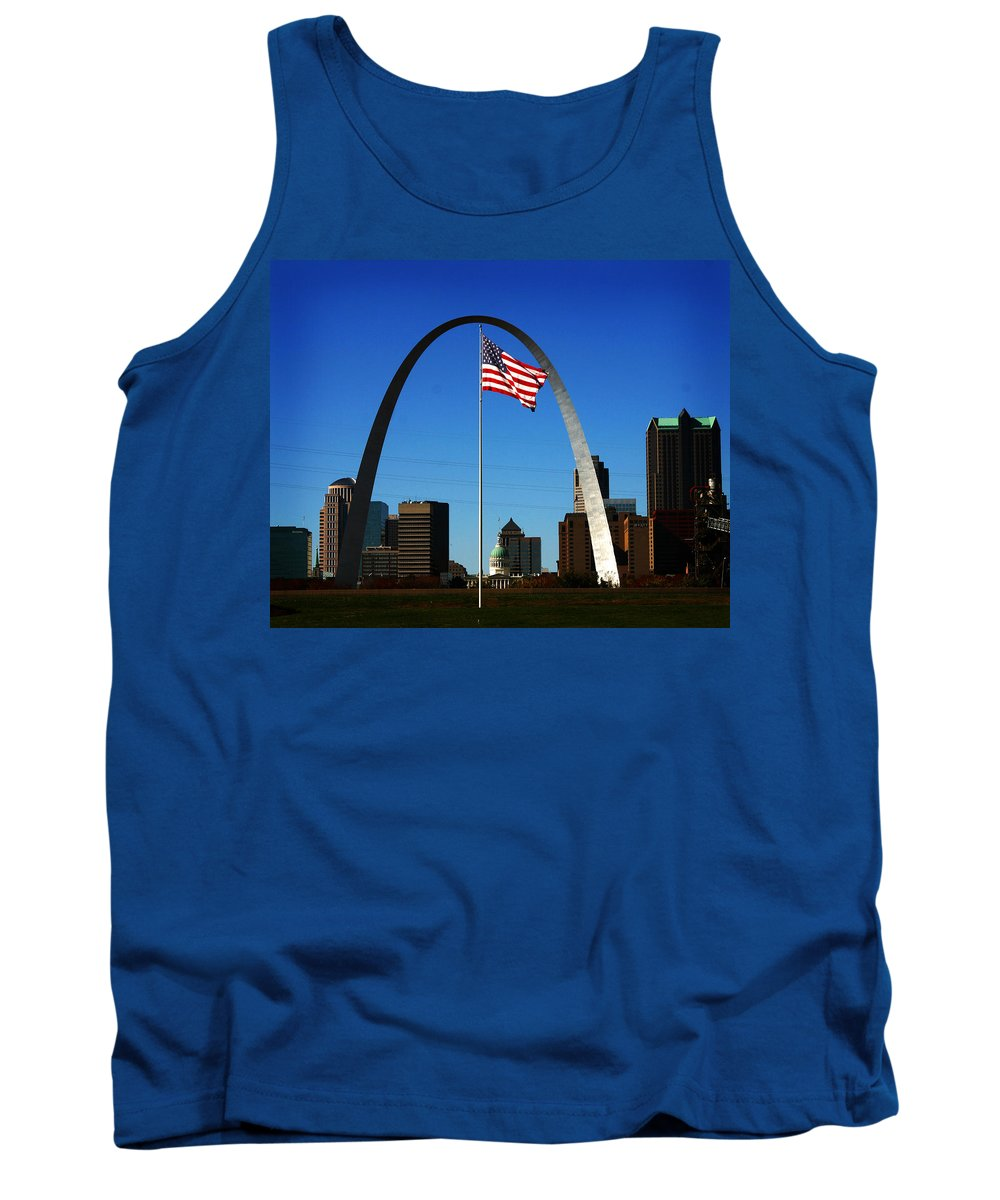 Arch Tank Top featuring the photograph Gateway To The West by Anthony Jones