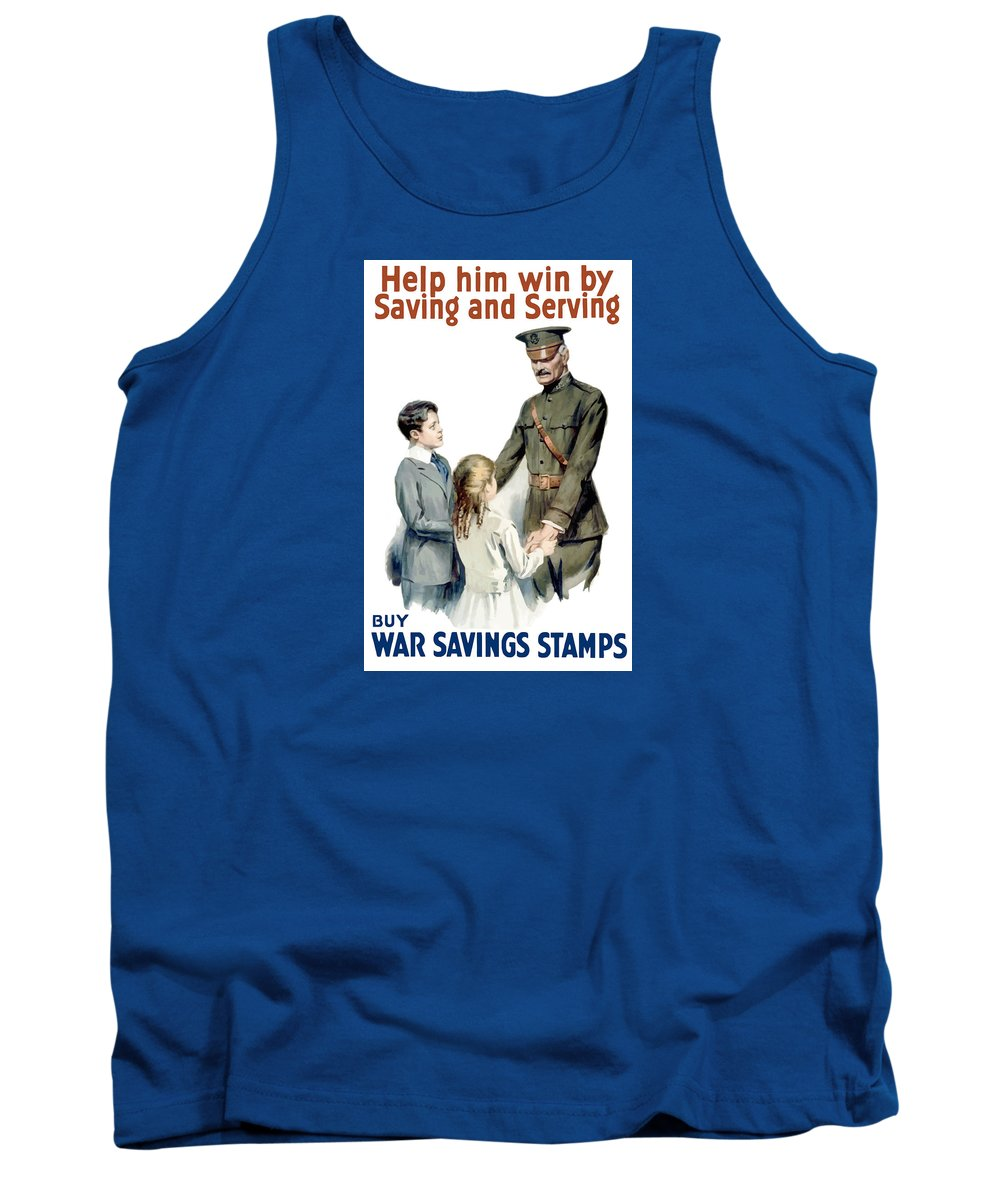General Pershing Tank Top featuring the painting General Pershing - Buy War Saving Stamps by War Is Hell Store