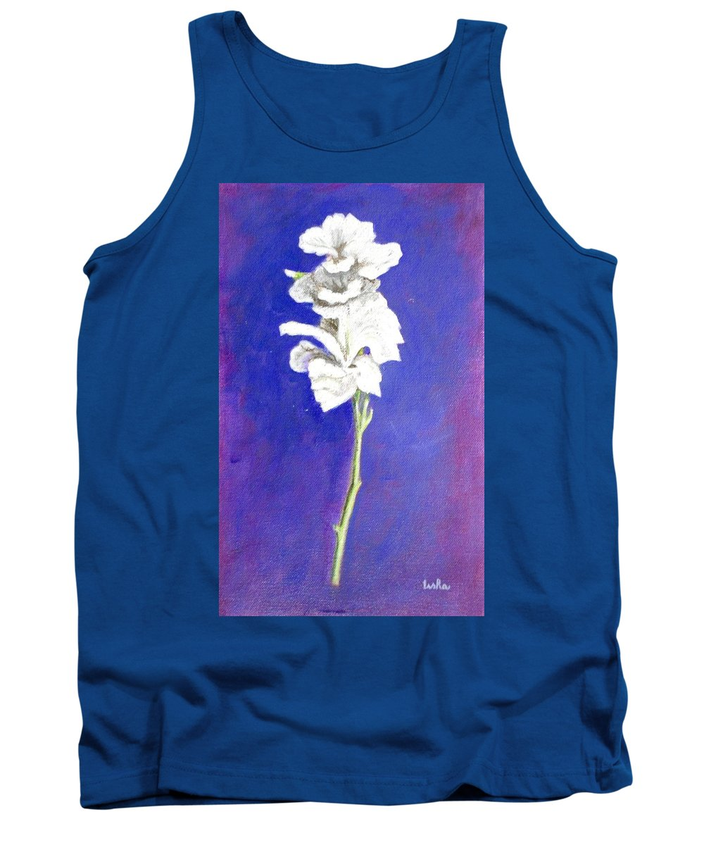 Flower Tank Top featuring the painting Gladiolus 1 by Usha Shantharam