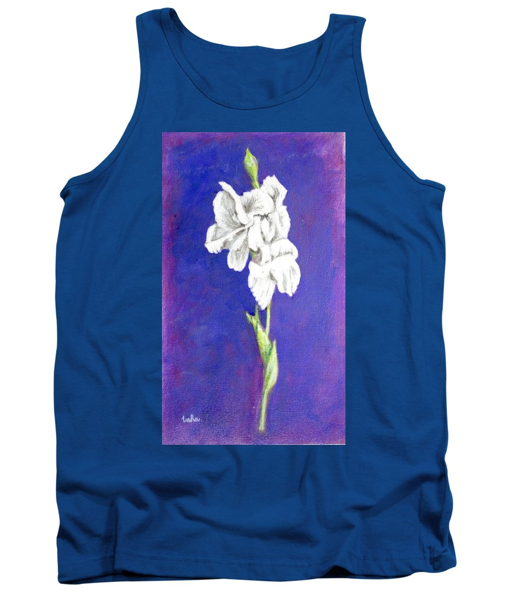 Tank Top featuring the painting Gladiolus 2 by Usha Shantharam