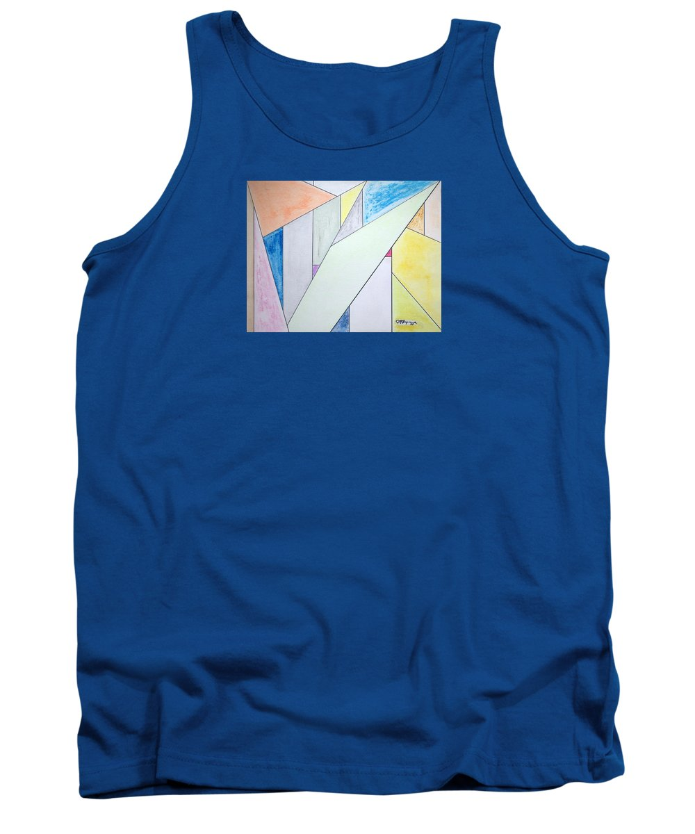 Buildings Tank Top featuring the mixed media Glass-Scrapers by J R Seymour
