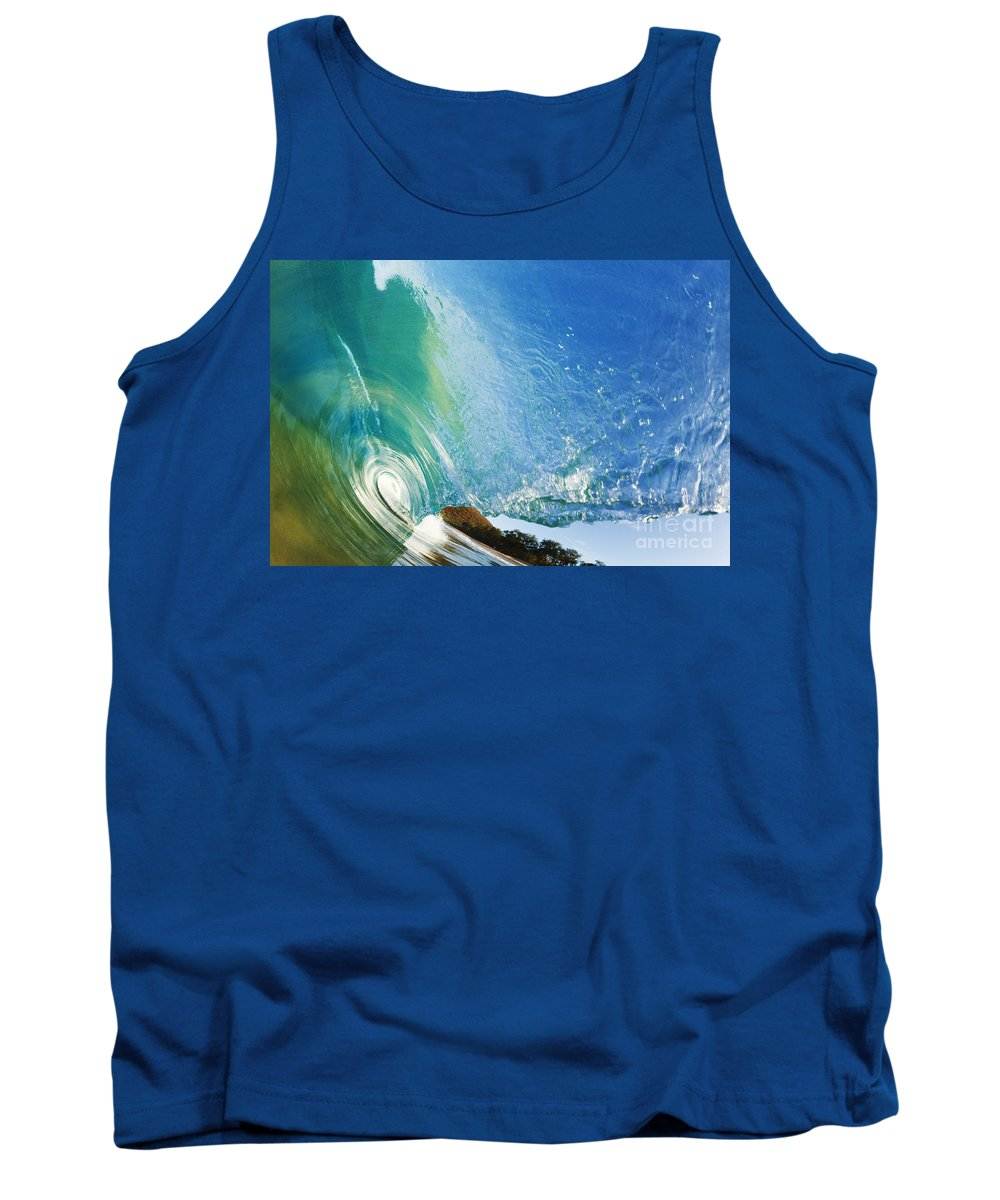 Amazing Tank Top featuring the photograph Glassy Wave Tube by MakenaStockMedia - Printscapes