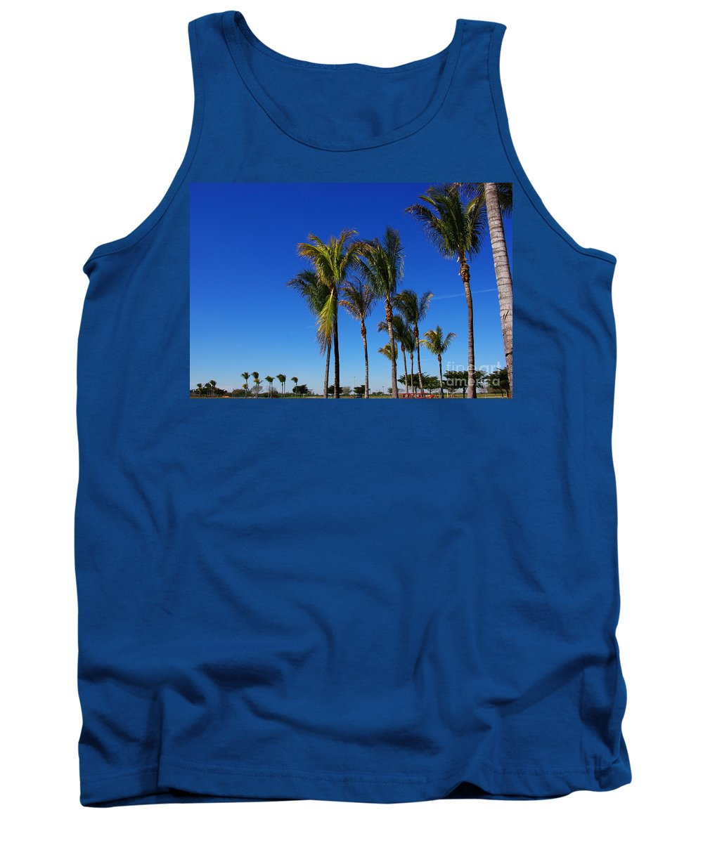 Palm Tank Top featuring the photograph Glorious Palms by Zal Latzkovich