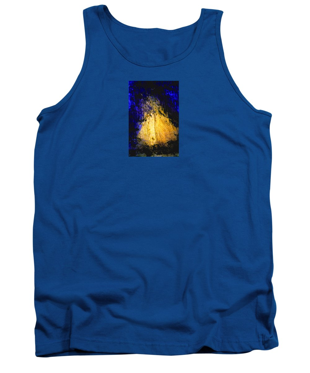 Golden Tank Top featuring the painting Golden Light by Ishwar Malleret