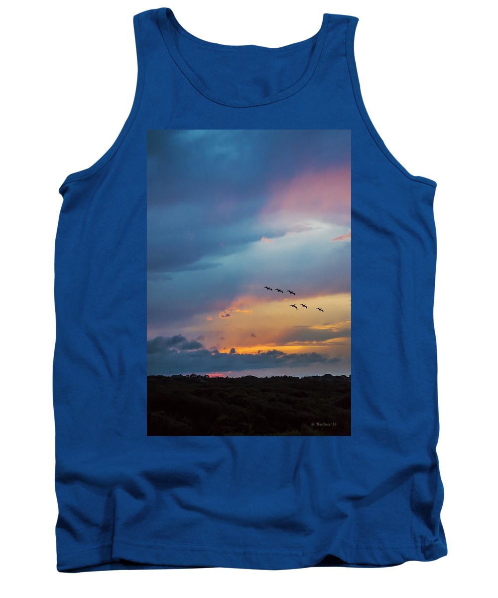 2d Tank Top featuring the photograph Goodbye To The Day by Brian Wallace