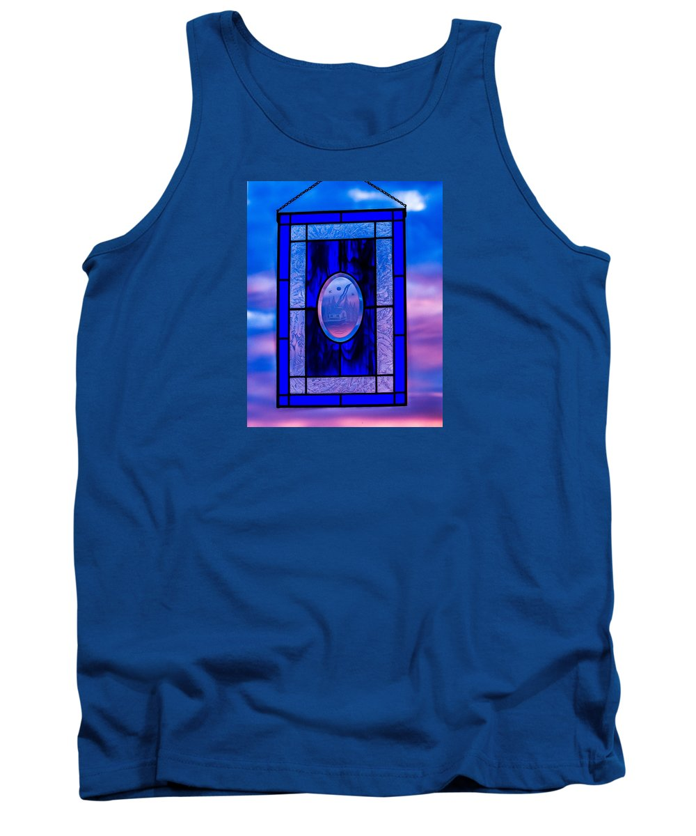 Stained Glass Tank Top featuring the photograph Got The Blues by E Faithe Lester