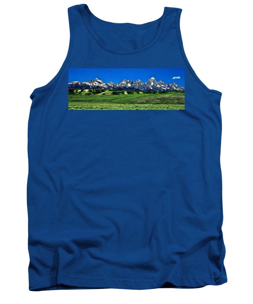 Nature Tank Top featuring the photograph Grand Tetons by John K Sampson