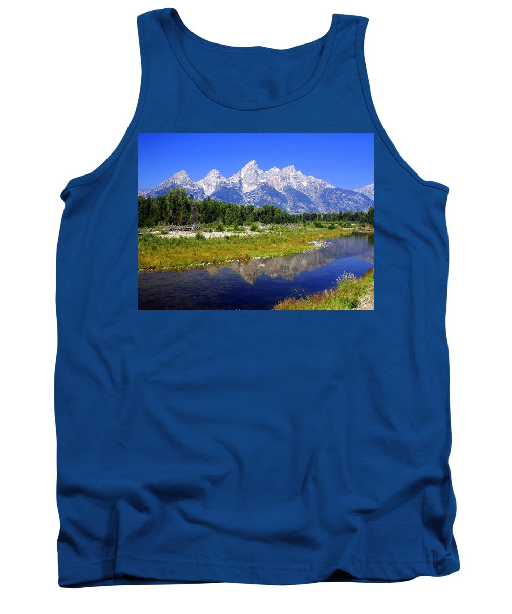 Grand Teton National Park Tank Top featuring the photograph Grand Tetons by Marty Koch