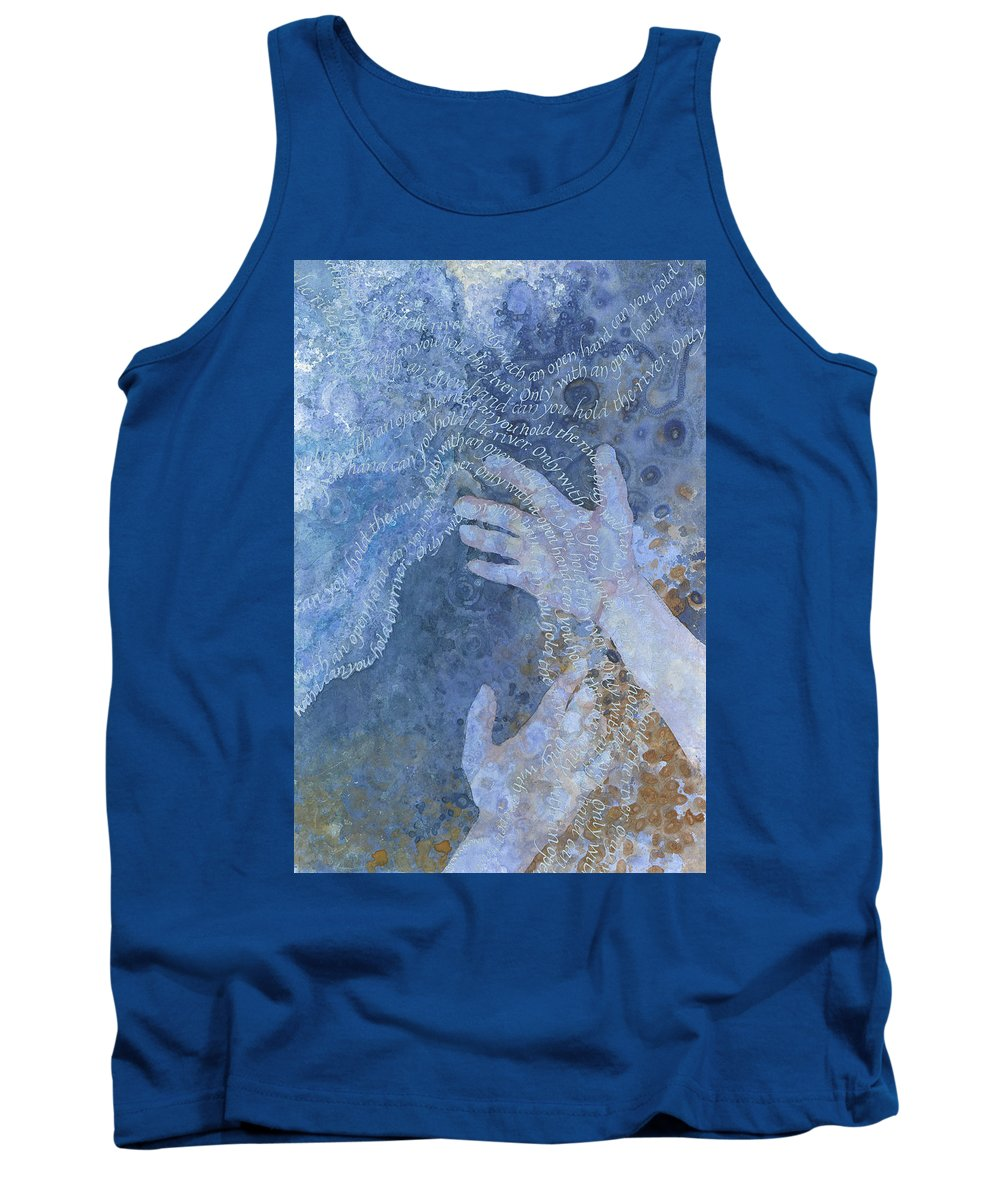 Calligraphy Tank Top featuring the painting Graspless Grasp by Sid Freeman