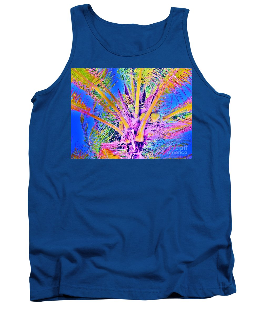 Jellee Pix Tank Top featuring the digital art Great Abaco Palm by Keri West