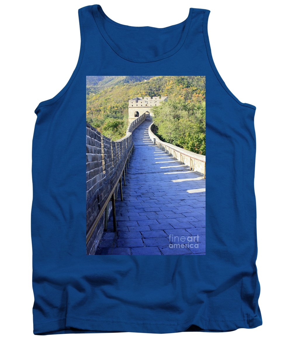 The Great Wall Of China Tank Top featuring the photograph Great Wall Pathway by Carol Groenen