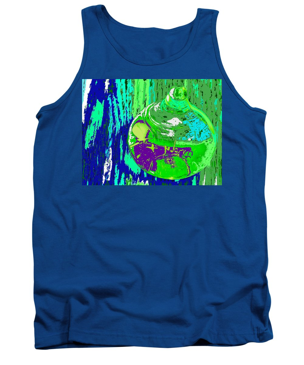 Abstract Tank Top featuring the photograph Green Whirl by Ian MacDonald
