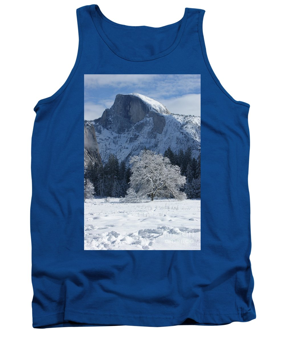 Half Dome Tank Top featuring the photograph Half Dome In Winter by Christine Jepsen