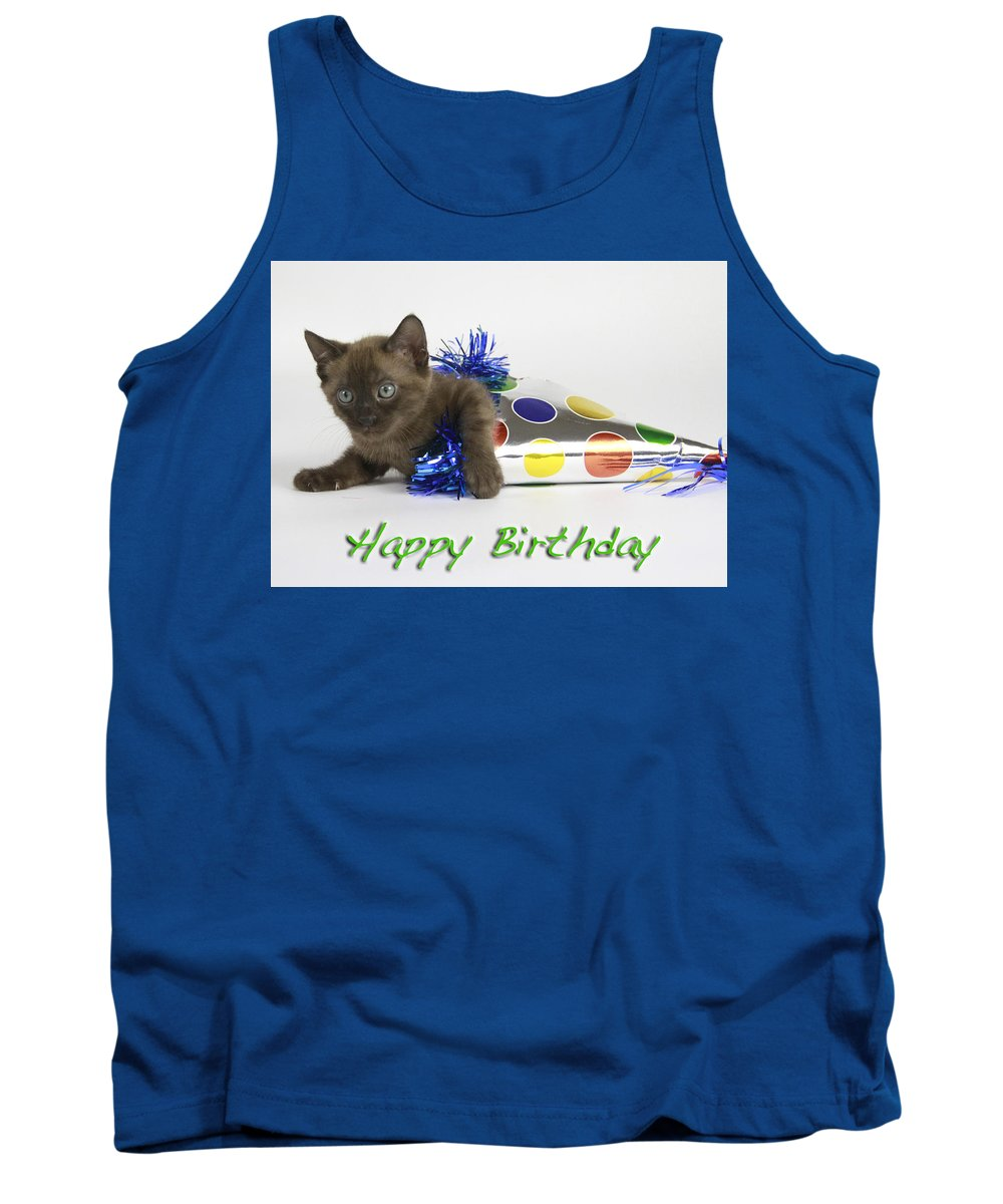 Bengal Tank Top featuring the photograph Happy Birthday by Shoal Hollingsworth