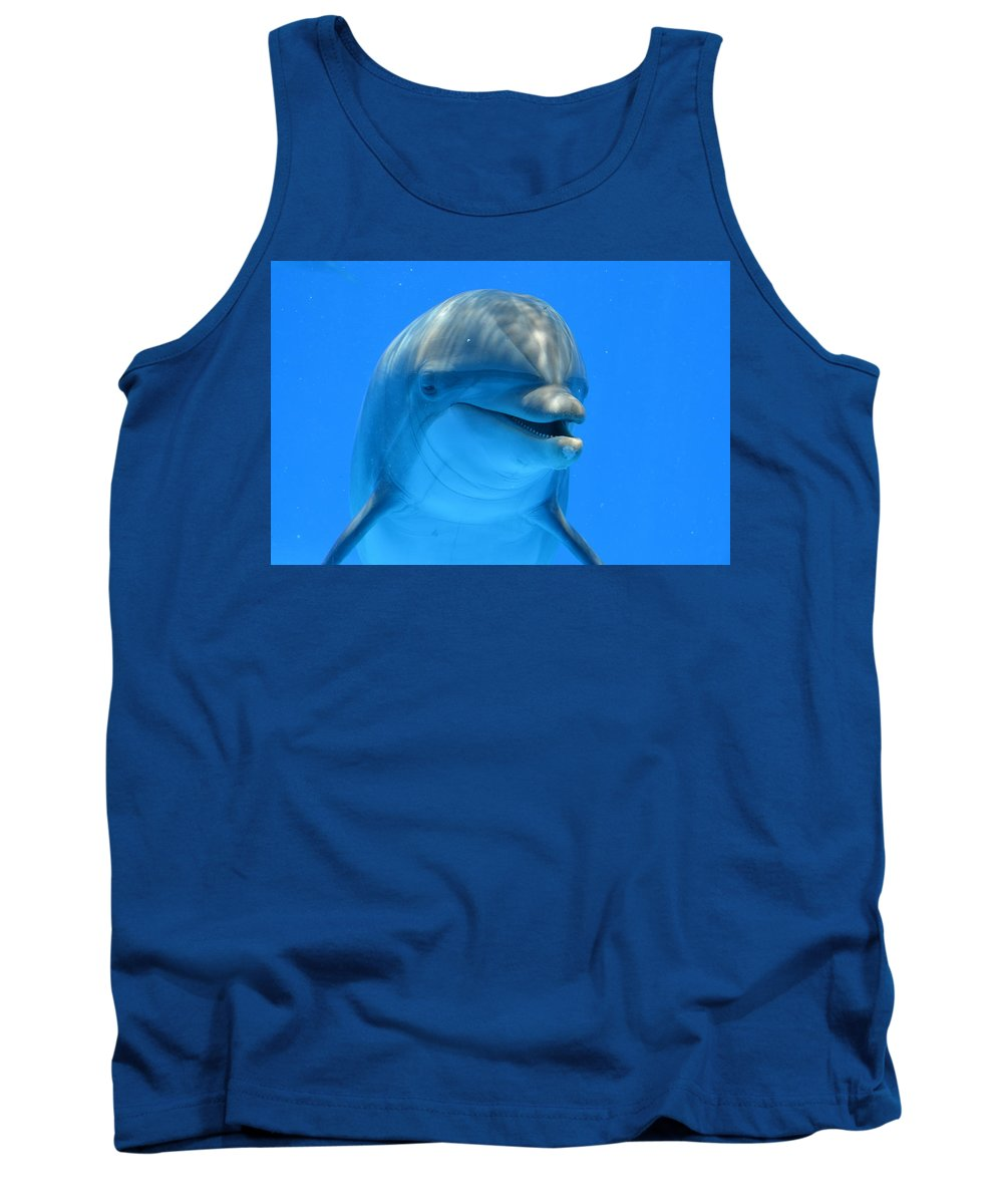 Dolphin Tank Top featuring the photograph Happy Smiling Dolphin by Richard Bryce and Family