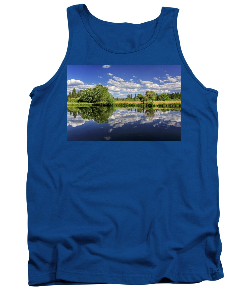 Landscape Tank Top featuring the photograph Hat Creek Reflections by James Eddy