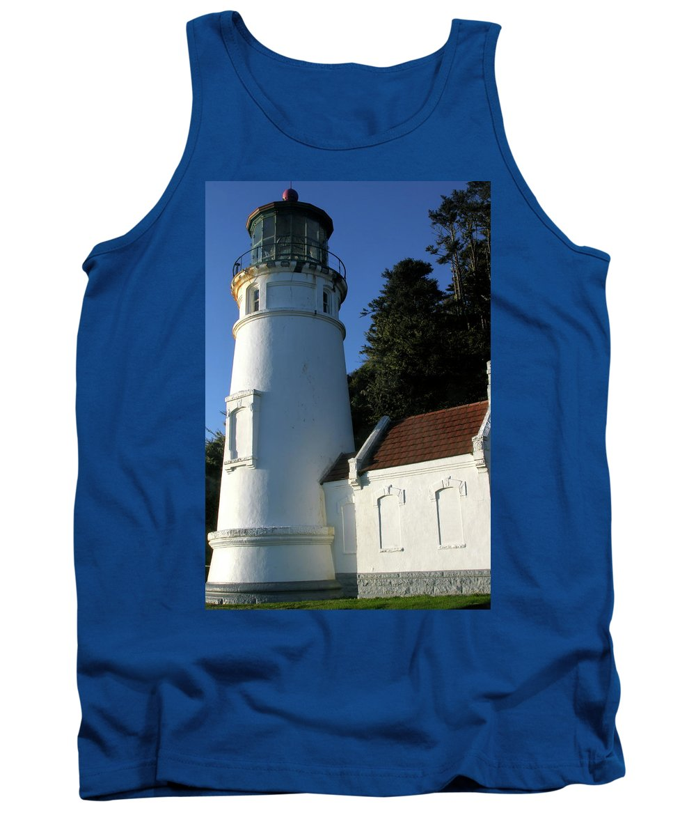 Heceta Head Lighthouse Tank Top featuring the photograph Heceta Head by Laddie Halupa
