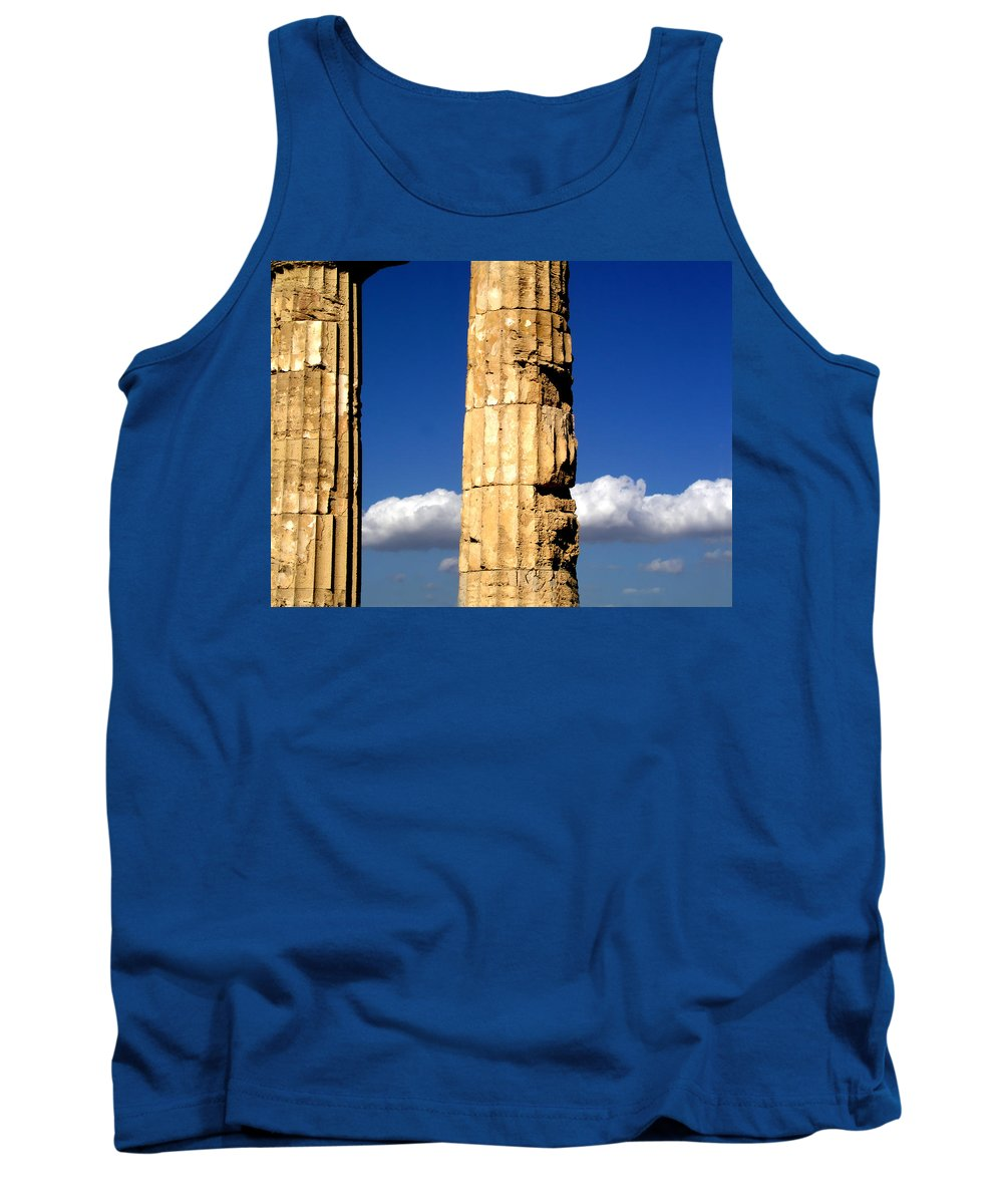 Cloud Tank Top featuring the photograph Hera Temple - Selinunte - Sicily by Silvia Ganora