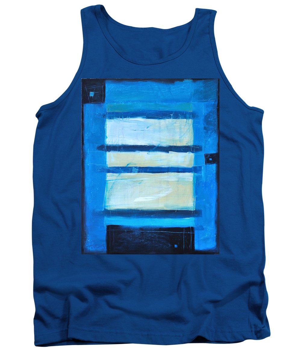 Abstract Tank Top featuring the painting Hidden Moon by Tim Nyberg