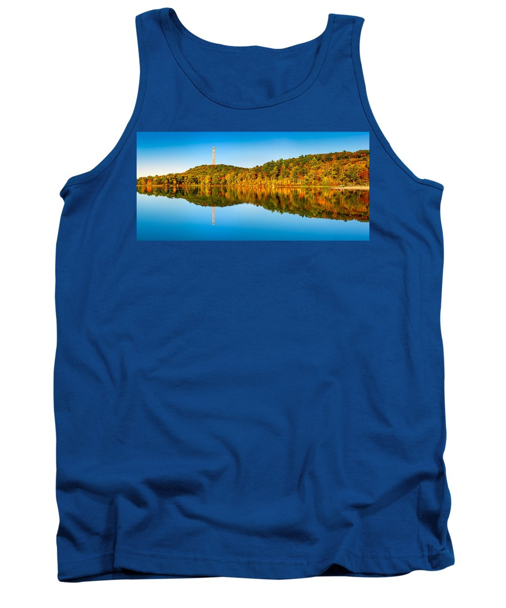 Kittatinny Tank Top featuring the photograph High Point Monument by Mihai Andritoiu