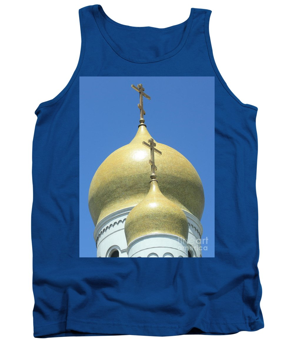 Holy Virgin Cathedral Tank Top featuring the photograph Holy Virgin Cathedral In San Francisco by Carol Groenen