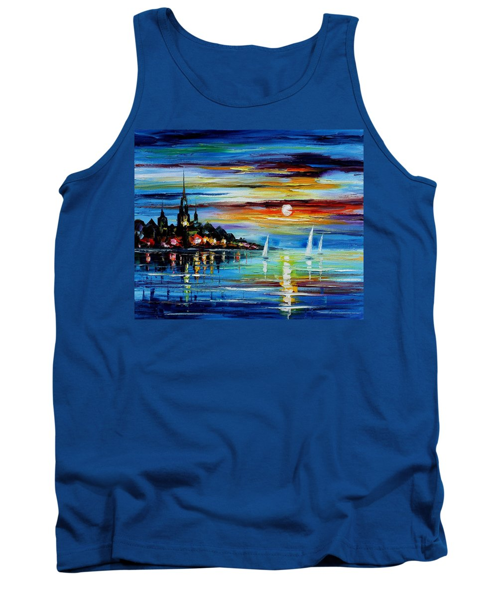 Art Gallery Tank Top featuring the painting I Saw A Dream - Palette Knife Oil Painting On Canvas By Leonid Afremov by Leonid Afremov