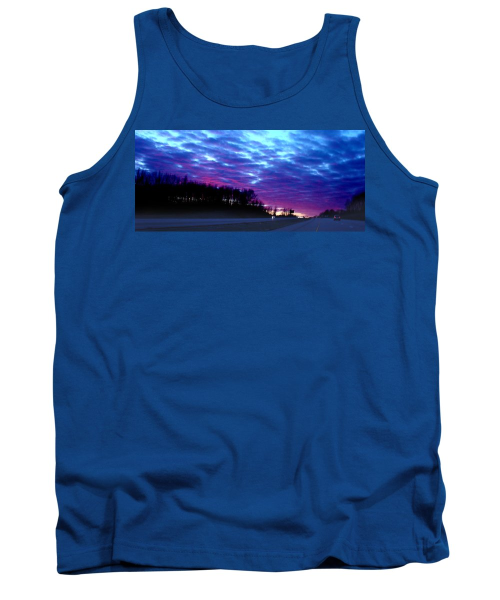Landscape Tank Top featuring the photograph I70 West Ohio by Steve Karol